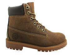 Timberland Authentic 6 Inch Junior Kids Brown Lace Up Leather Boots 80903 U61