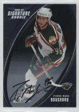 2002 In the Game Be A Player Signature Series 196 Pierre-Marc Bouchard Auto Card