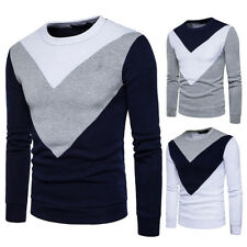 Stylish Mens Sexy Slim Fit Top Designed Crew Neck Splice Hoodies Jacket Coats