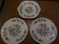 AYNSLEY - 2 LARGE PLATES with RIPPLED EDGE and SANDWICH / CAKE PLATE PEMBROKE