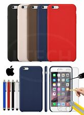 Apple iPhone 6 - Leather Hard Back Case Cover, Stylus Pen & GLASS Protector
