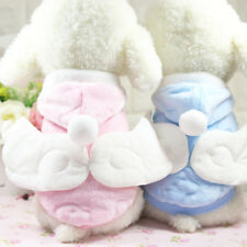 Winter Puppy Dog Clothes Pet Hoodie Coat Angel Wings Costume Dress Up Clothing