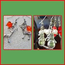 Christmas, Frosty Snowman or Rudolph Red nosed reindeer earrings