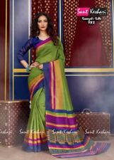 Sari Pakistani Designer Bollywood Ethnic Party Saree Dress Indian Sant Keshri-2