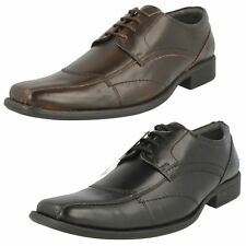 Mens Bruno Donnari Smart Formal Lace Up Leather Square Toe Shoes - NN908