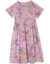 NEW Milkshake Shirred Bodice Dress with Frilled Sleeves - Cherry Blossom Floral