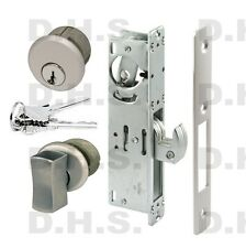 ADAMS RITE TYPE COMMERCIAL HOOK BOLT LOCK / THUMBTURN & KEYED MORTISE CYLINDER