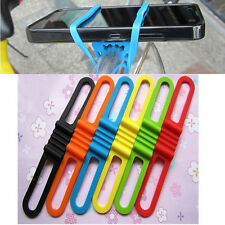 Bicycle Silicone Elastic Torch flashLight Phone Bind Strap Mount Holder WL