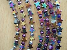 Rainbow Hematite Stars & Pyrite Bracelets with Sterling Silver Clasps