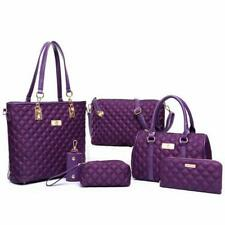 Handbag Set 6pcs Patchwork Composite Bag Female  Vintage Shoulder Bag Casual