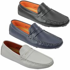 New Mens Faux Leather Slip on Penny Loafers Driving Shoes UK Sizes 6 7 8 9 10 11