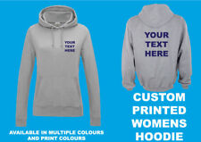CUSTOM WOMENS PRINTED HOODIE Personalised Hen Birthday Event Workwear Logo