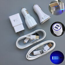 OEM LED Cable/Fast Car Charger/Wall Charger For Samsung Galaxy S7 S6 S4 Note 5 4