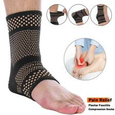 Copper Ankle Support Brace Compression Sleeve Tommie Fit Sports Foot Arthritis