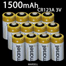 MARSELL CR123A CR123 CR17345 Lithium 3V Battery Suit Torch Camera Power 1500mAh