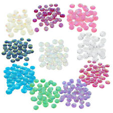 50x Striped Resin Flatback Cabochon Embellishment for DIY Hair Accessories 12mm