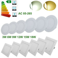 3W-24W Dimmable Recessed LED Panel Light Ceiling Downlights Floodlighst Fixtures