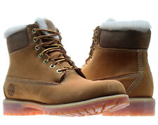 Timberland 6-Inch Premium Fur Lined Waterproof Wheat Nubuck Men's Boots 18027