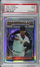1993 Topps Finest Refractor #145 Jose Guzman PSA 9 MINT Chicago Cubs Card