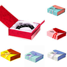 Square Bowknot Package Bracelet Bangle Jewelry Display Box Gift Present Case UP