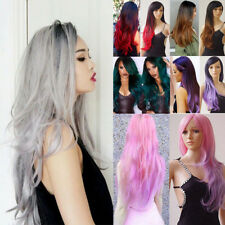 Sexy Women's Fashion Wavy Curly Long Hair Full Wigs Cosplay Party Wig Dfr