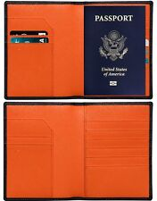 RFID Blocking Premium Leather Passport Holder - Travel Wallet Case w/ Cover