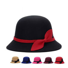 Warm 1 Pcs Hats Bowler Cute Felt Wool Cloche Fashion Vintage Bucket Women Cap