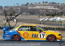 Dick Johnson John Bowe SIGNED 6x4 or 8x12 photos V8 Supercars DJR FORD