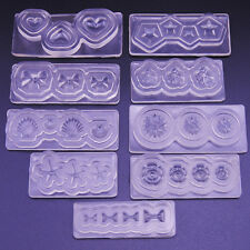 KQ_ 3D Silicone Mold Mould for Nail Art DIY Tips Decoration Accessories Peachy