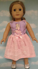 "Dress handmade to fit 18"" American Girl Doll 18 inch Doll Clothes 5a"