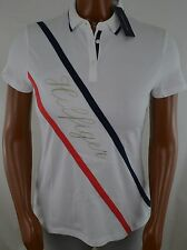 NWT Women's Tommy Hilfiger Short-Sleeve Polo  White Navy Blue Pink L XL