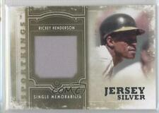 2012 Sportkings Series E Single Memorabilia Silver Jersey SM-04 Rickey Henderson