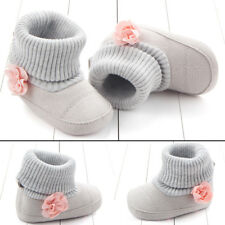 Boy Girl Infant Baby Toddler Kid 0-12M Snow Boots Soft Shoes Booties