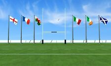 RUGBY 6 NATIONS FLAGS PACK & BUNTING ENGLAND IRELAND SCOTLAND WALES FRANCE ITALY