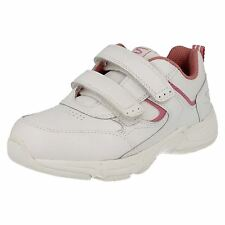 Girls Startrite Trainers In White/Pink Leather 'Meteor'