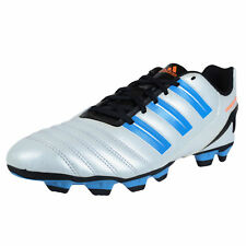 rare ADIDAS PREDITO TRX FG MENS SOCCER CLEATS WHITE BLUE WARNING ORANGE V23625