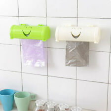 KQ_ Kitchen Wall Self Sticky Smile Face Garbage Bag Receiving Box Container Util