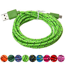 Micro USB Charger Sync Data Cable Cord Hemp Rope for Android Cell Phone 1M/10ft