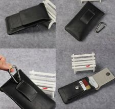 For HTC One X XL Max Black Genuine Leather Belt Clip Tradesman Case Cover Pouch