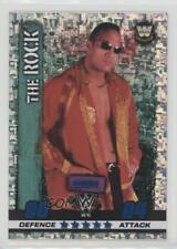 2017 Topps WWE Slam Attax 10th Edition #41 Icon Holofoil The Rock Wrestling Card