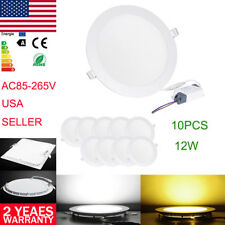 Ceiling Slimline Panel Dimmable Round Recessed LED Fixtures Lamp Bulbs Downlight