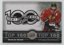 2017 Upper Deck Tim Hortons Collector's Series Top 100 #TOP-6 Duncan Keith Card