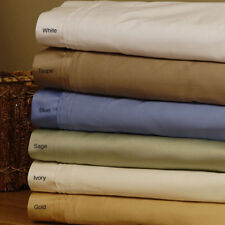 King Size Bedding Items 1000TC Egyptian Cotton Select Color Solid/Strip Pattern