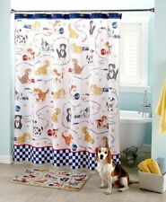 Playful Dogs Bathroom Collection Shower Curtain/Hooks Rug Soap/Lotion Pump Tooth