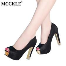 MCCKLE Women Sexy Shoes Woman Pumps Women High Heels Shoes Heels Platform Shoes