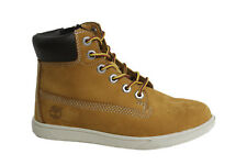 Timberland Groveton Lace Up Side Zip Wheat Nubuck Leather Toddler Boot A163E D70