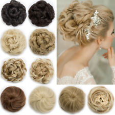 US Stylish Pony Tail Women Clip in/on Hair Bun Hairpiece Extension Scrunchie AP5