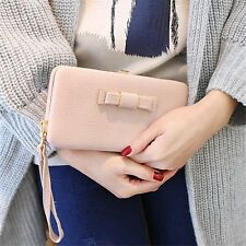 Women's Universal Zipper Wallet Phone Case Cover Purse Pouch for iPhone X 7 6 8