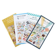 2x Vintage Travel Food DIY Decoration PVC Stickers For Diary Scrapbooking Gift.`