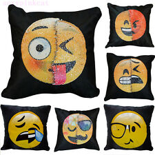 New Adorable Two Sides Two Moods Pillow Case Cushion Cover Sofa Home Car Decor